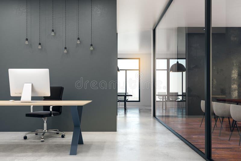 现代办公室空间 皇族释放例证