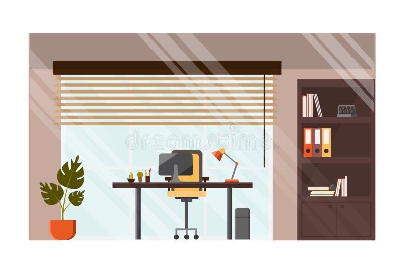 现代办公室舒适的工作场所传染媒介概念 库存例证