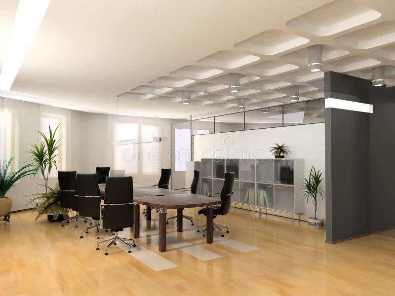 现代办公室 向量例证