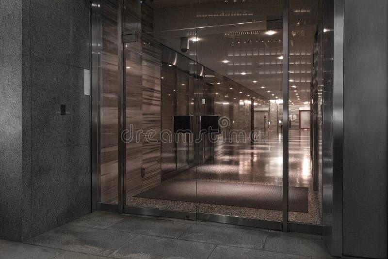 现代办公楼大厅大厅 图库摄影
