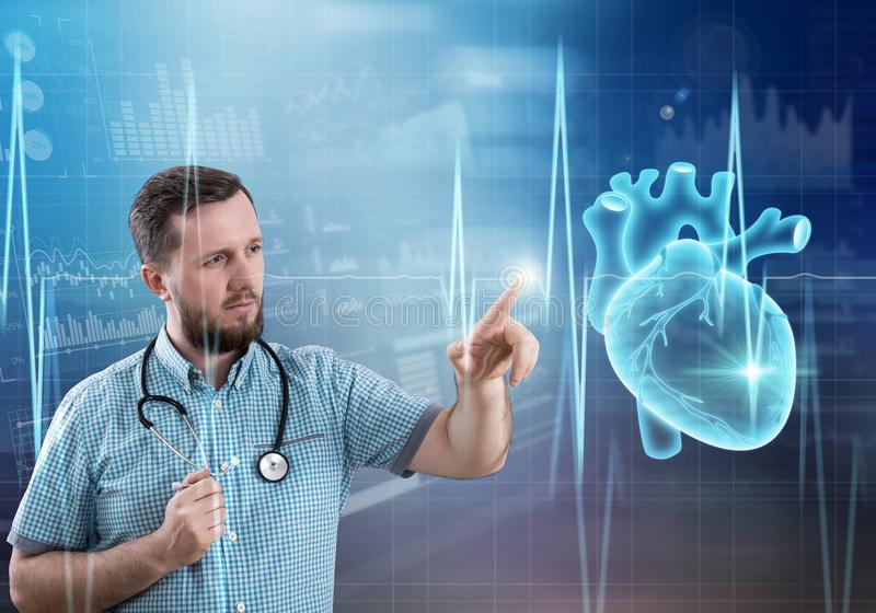 现代医学心脏病学概念 免版税库存照片