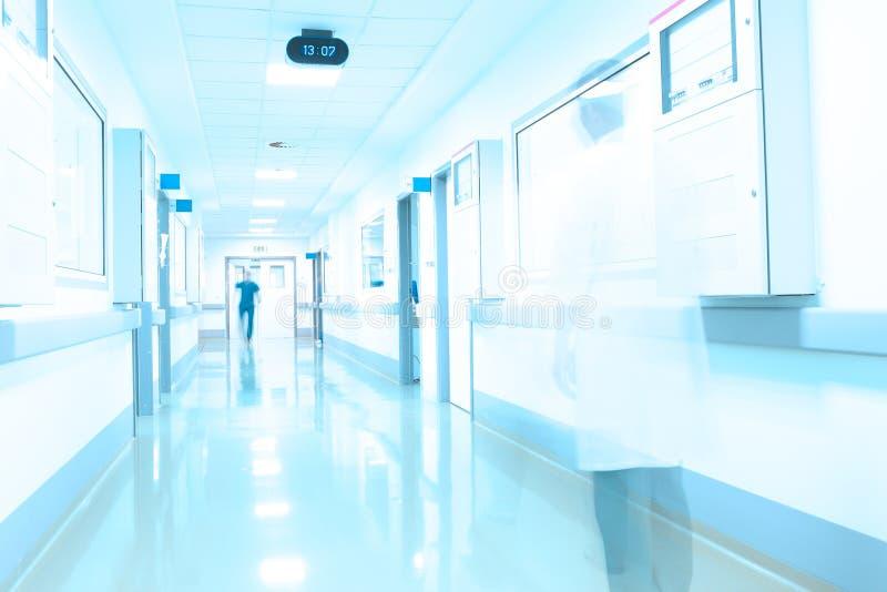 现代医院走廊 库存照片