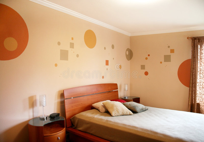 现代卧室的设计 图库摄影