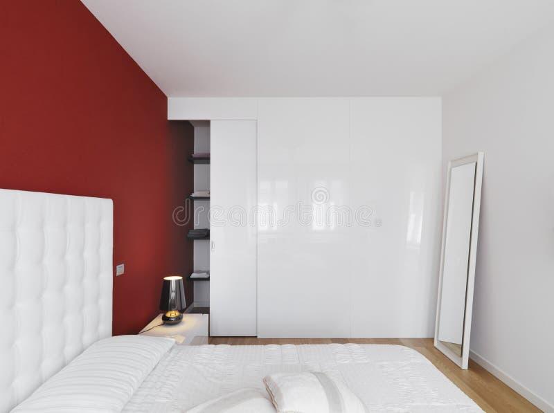 现代卧室的豪华 免版税库存照片
