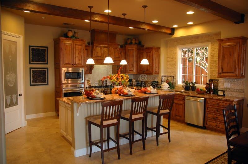 现代厨房在加利福尼亚 免版税库存照片
