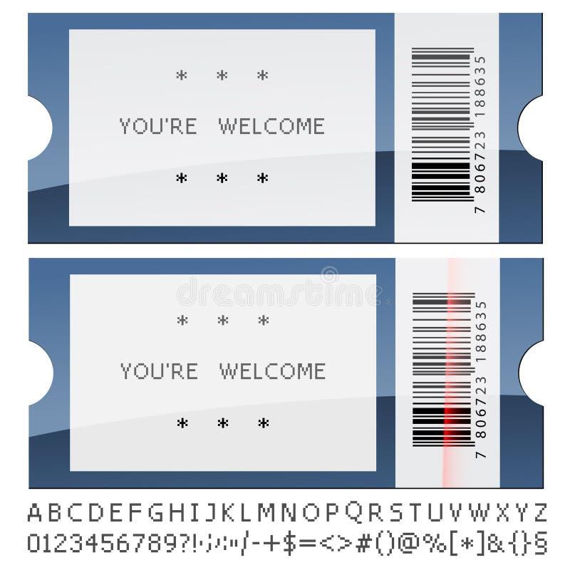 现代发光的票 皇族释放例证