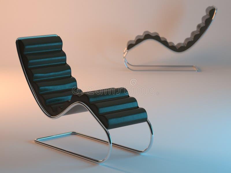 现代可躺式椅二 向量例证
