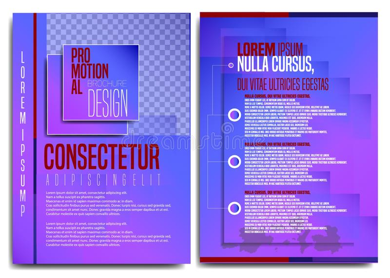现代和平的小册子设计2019年 库存例证