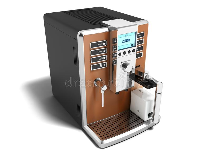 现代咖啡壶多功能为两个杯子变褐用牛奶 皇族释放例证