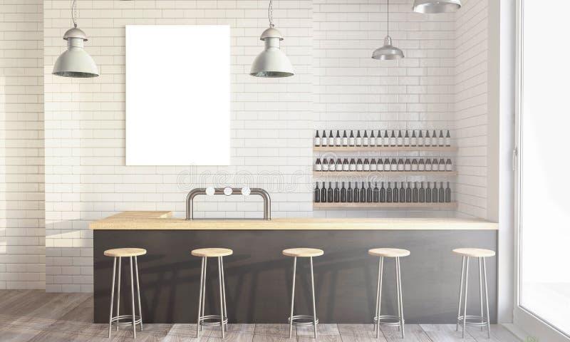 现代咖啡店 免版税库存照片