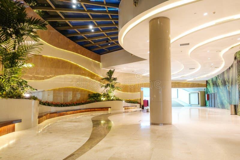 现代商业修造的大厅,办公室走廊,旅馆通道 免版税库存图片