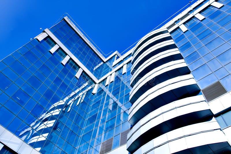 现代商务中心的玻璃 免版税库存照片