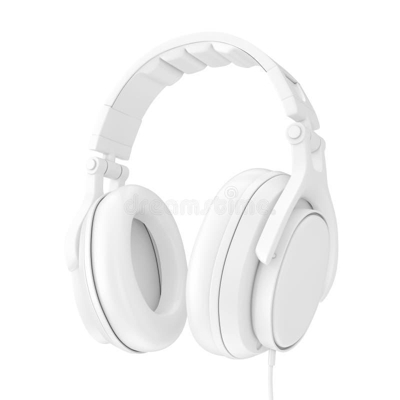 现代在黏土样式的乐趣少年白色耳机 3d?? 库存例证