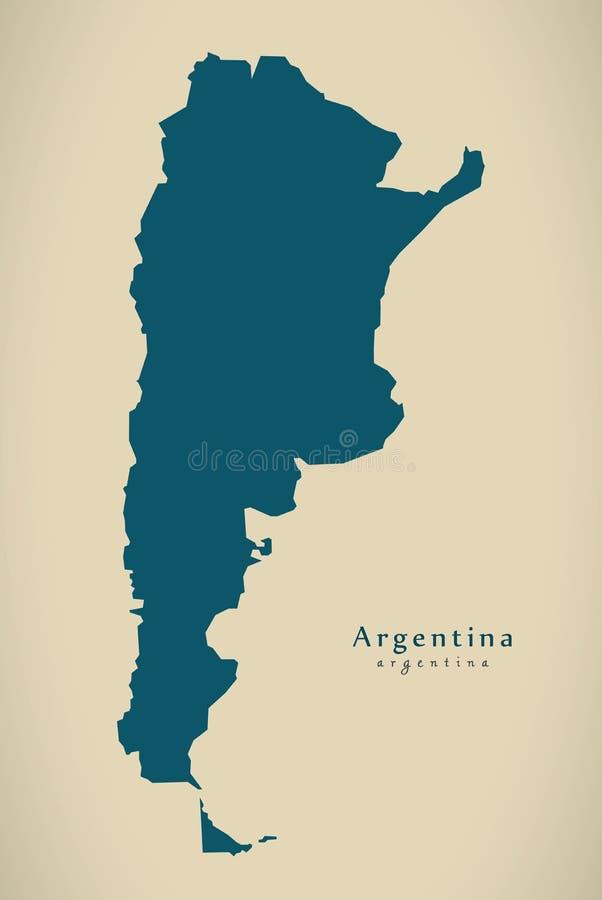 现代地图-阿根廷AR 皇族释放例证