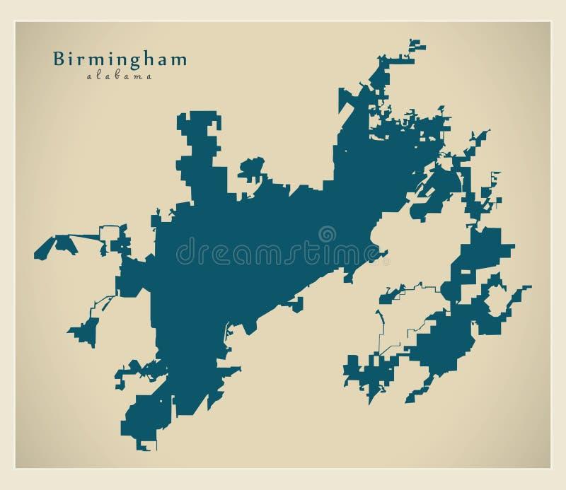 现代城市地图-美国的伯明翰阿拉巴马市 皇族释放例证