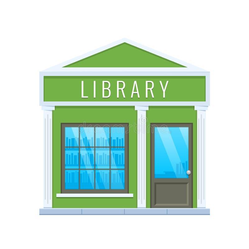 现代城市学校图书馆大厦门面 城市教育大厦 皇族释放例证