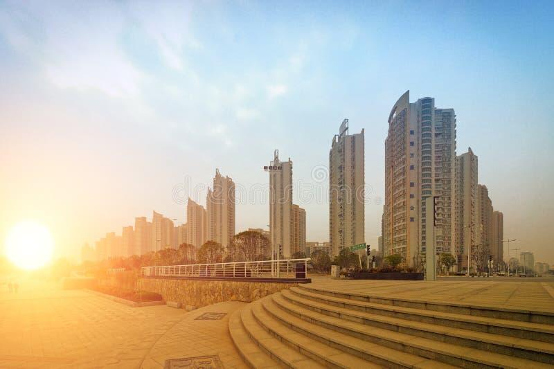 现代城市的角落 免版税库存图片