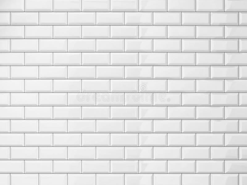 现代墙壁瓦片 皇族释放例证