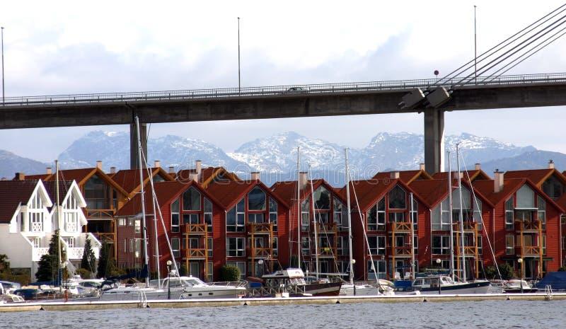 现代复杂的住房 库存照片