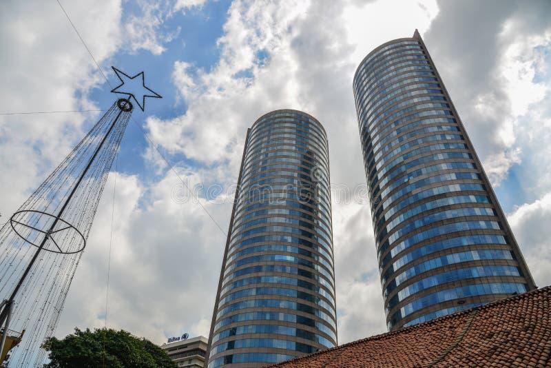 现代大厦在科伦坡,斯里兰卡 免版税库存图片