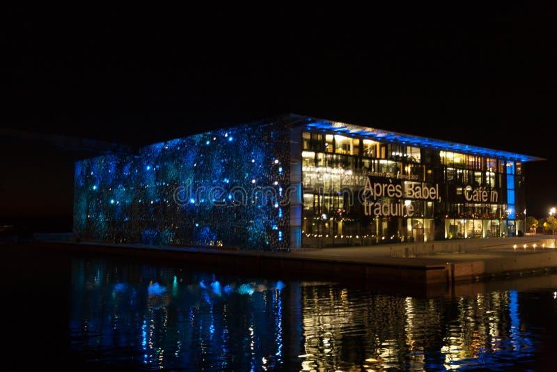 现代大厦外视图,马赛,法国 免版税库存图片