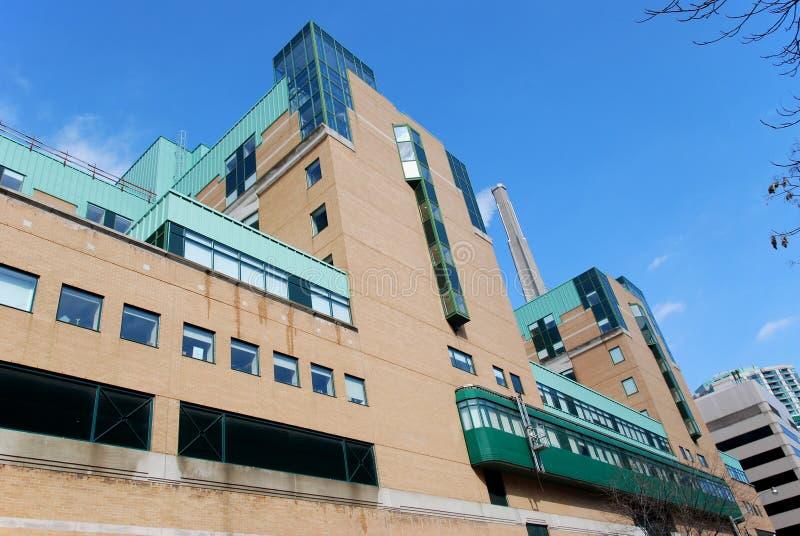 现代大厦的医院 免版税库存图片