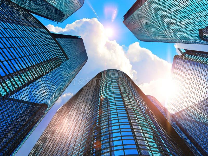 现代大厦的商业 向量例证