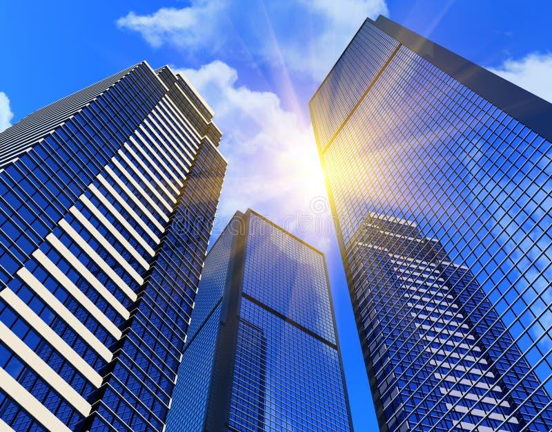 现代大厦的商业 皇族释放例证
