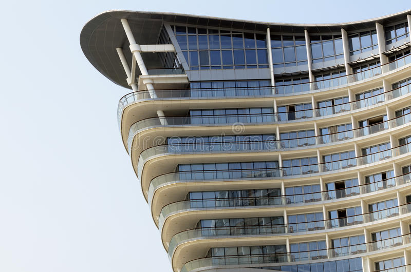 现代大厦的旅馆 免版税库存照片