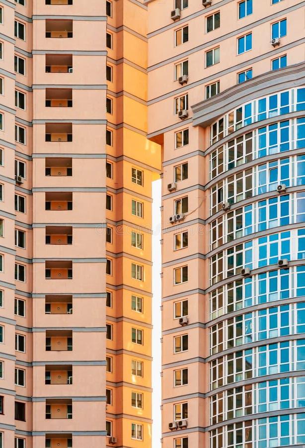 现代大厦细节在基辅,乌克兰 图库摄影