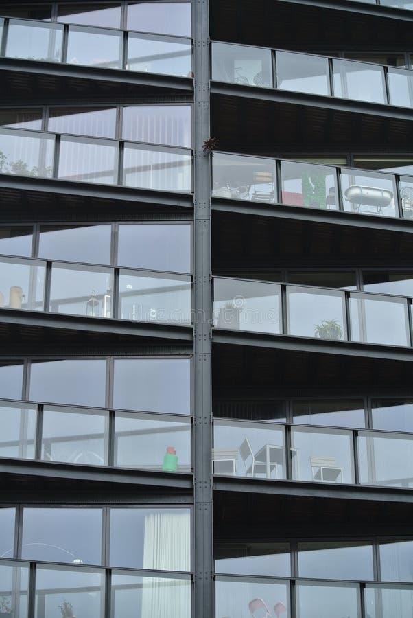 现代大厦门面细节, 库存图片