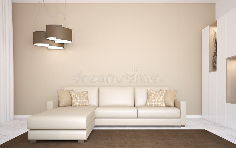 现代客厅。 向量例证