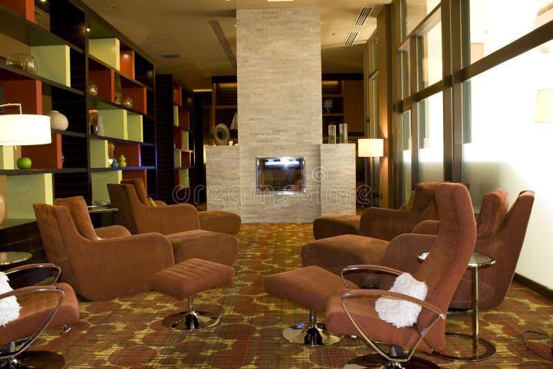 现代客厅 免版税库存图片