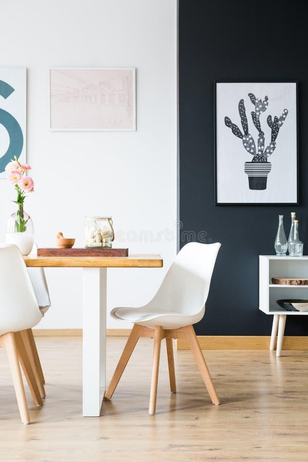 现代家庭室内设计 免版税库存图片