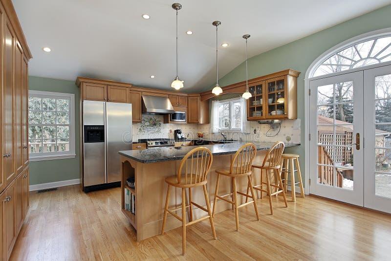现代家庭的厨房 库存照片