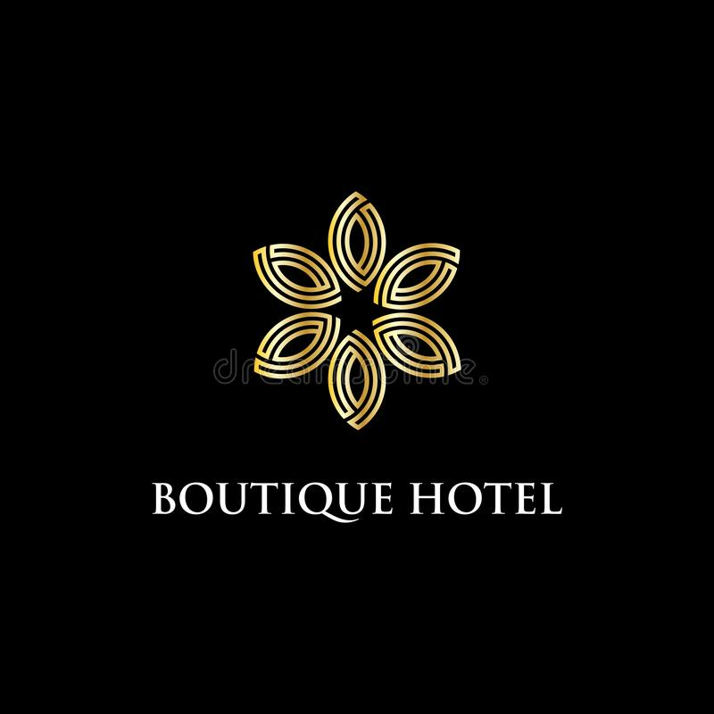 现代小店旅馆商标设计启发、豪华和聪明的传染媒介例证 向量例证