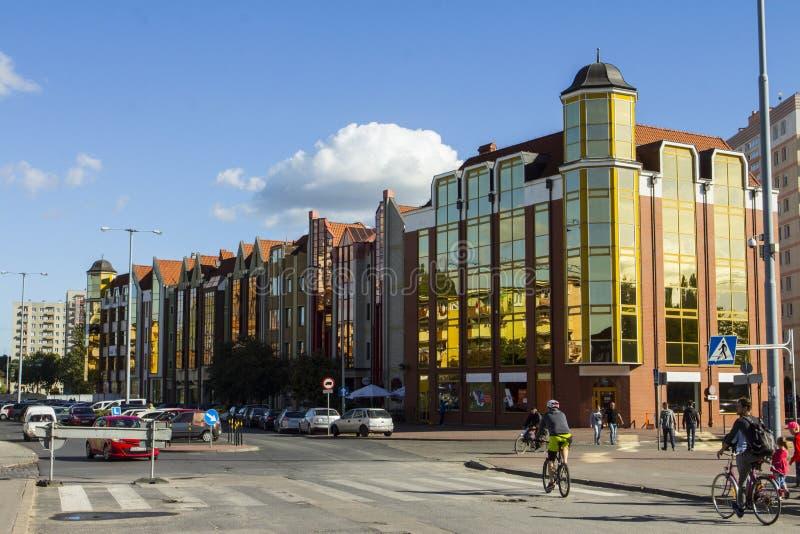 现代居民住房在格但斯克 波兰 免版税图库摄影