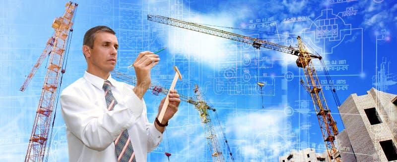 现代工程的设计技术在建筑 库存图片