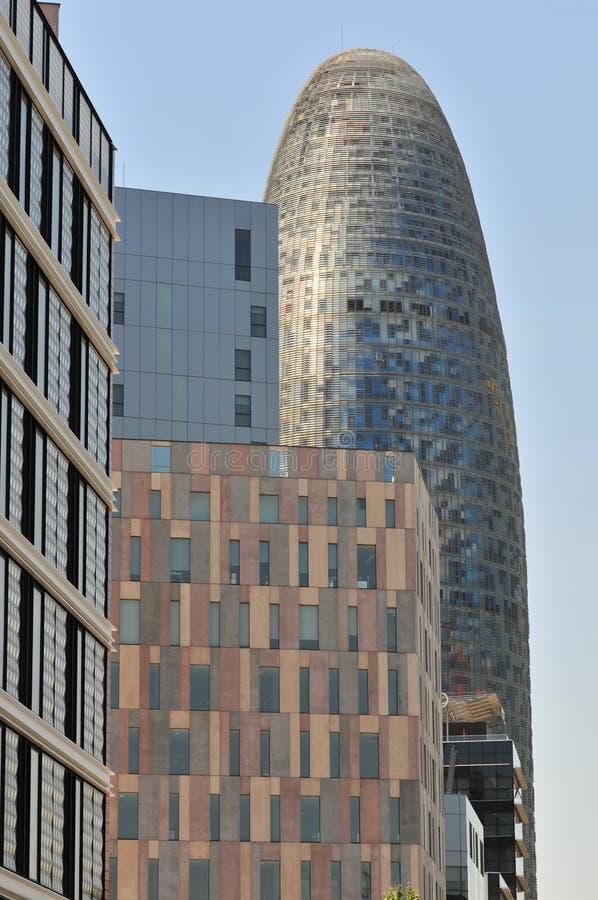 现代巴塞罗那的大厦 库存图片