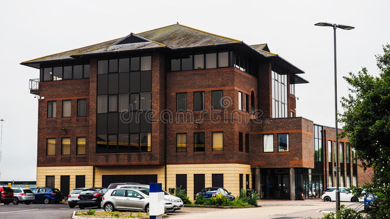 现代建筑学在城市南安普敦 免版税库存照片