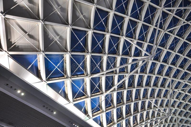 现代建筑学屋顶结构建造场所 免版税库存图片