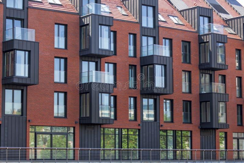 现代建筑学,连栋房屋 图库摄影