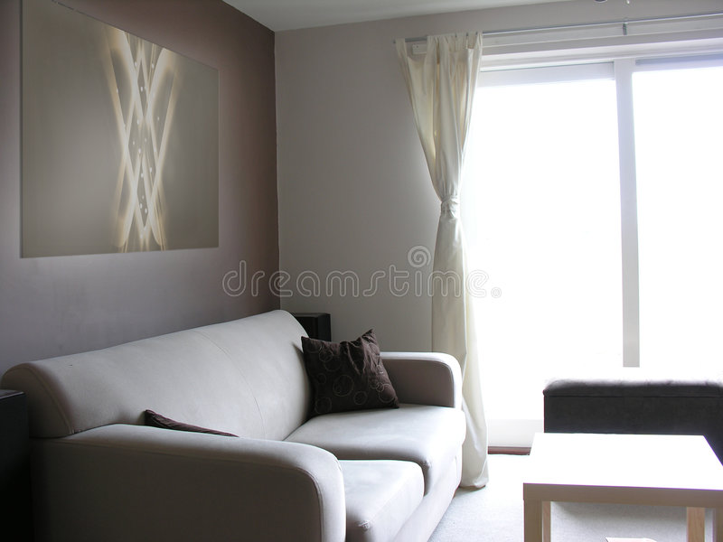 现代当代的休息室 免版税库存图片