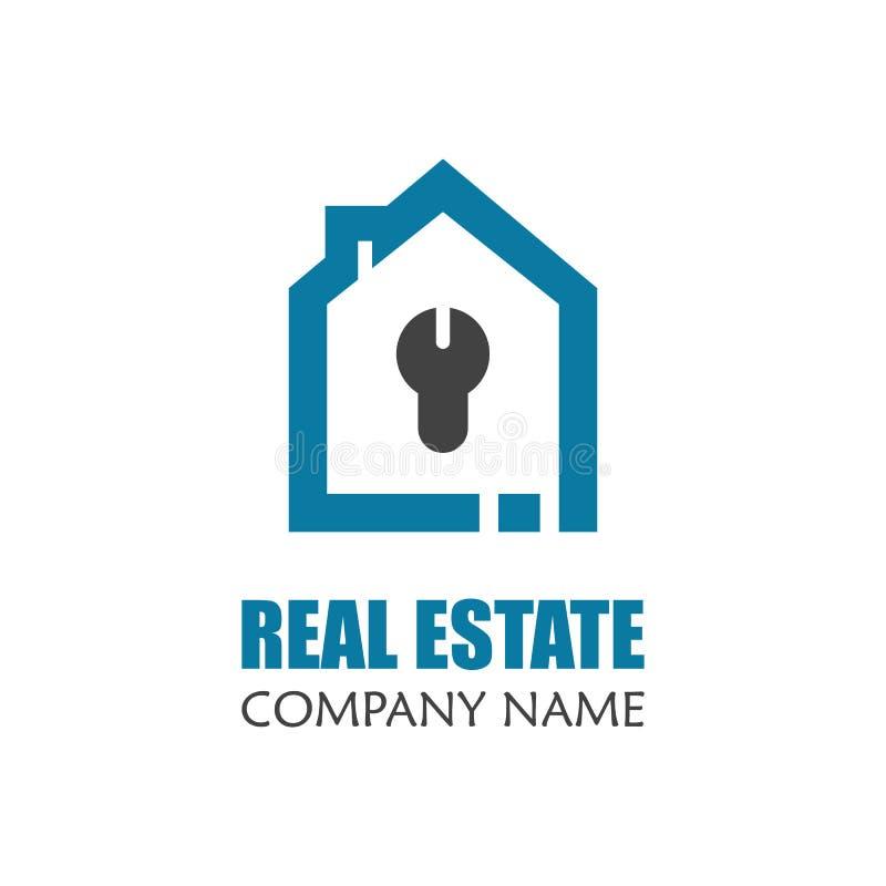 现代房地产商标模板 创造性的家庭商标象设计 向量例证