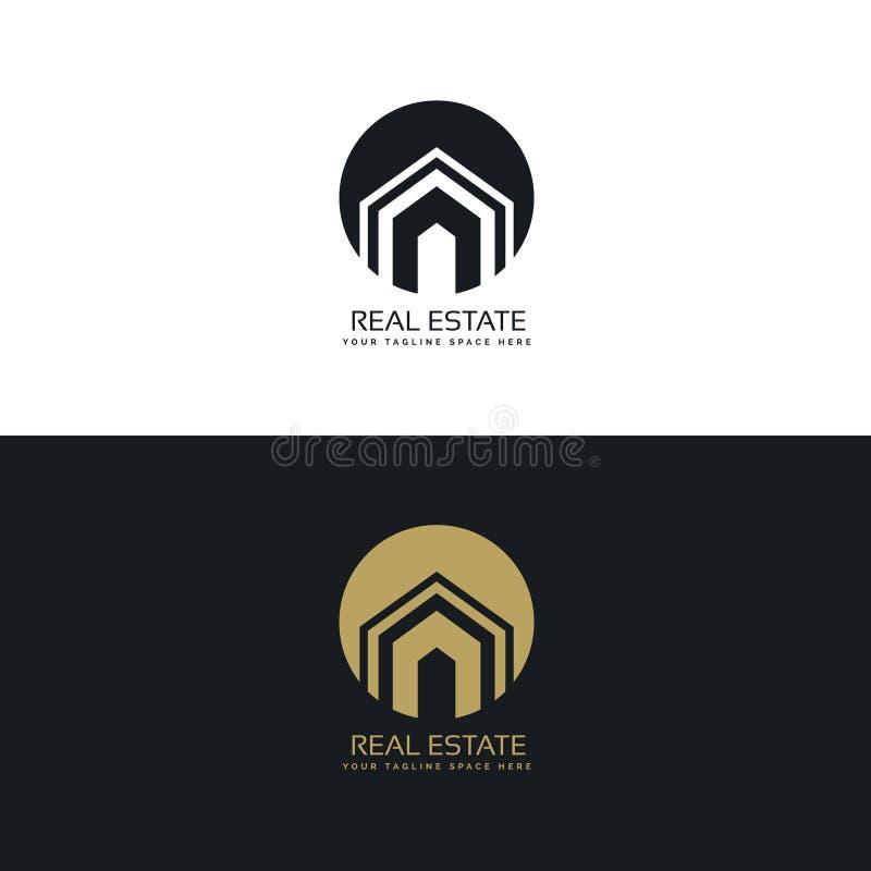 现代房地产或房子商标设计观念 皇族释放例证