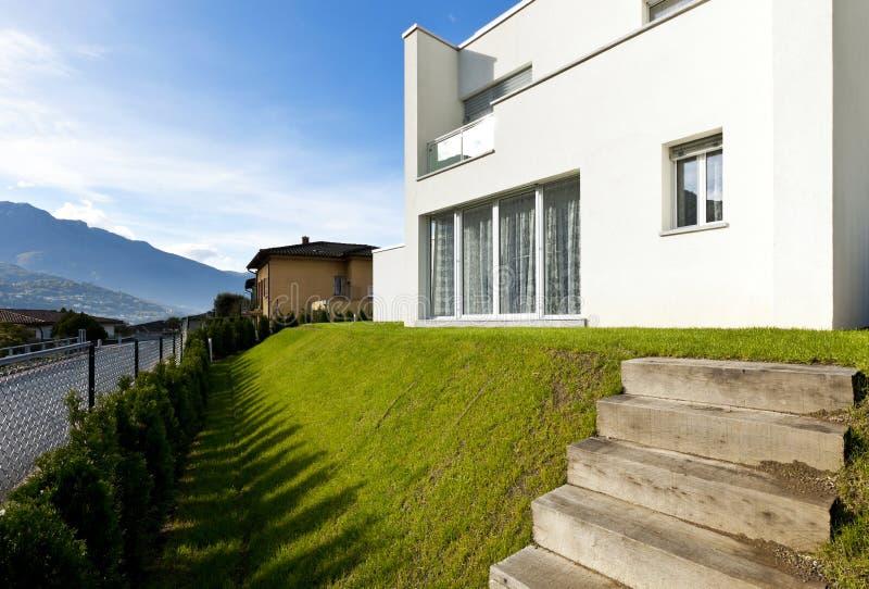 现代房子白色 图库摄影