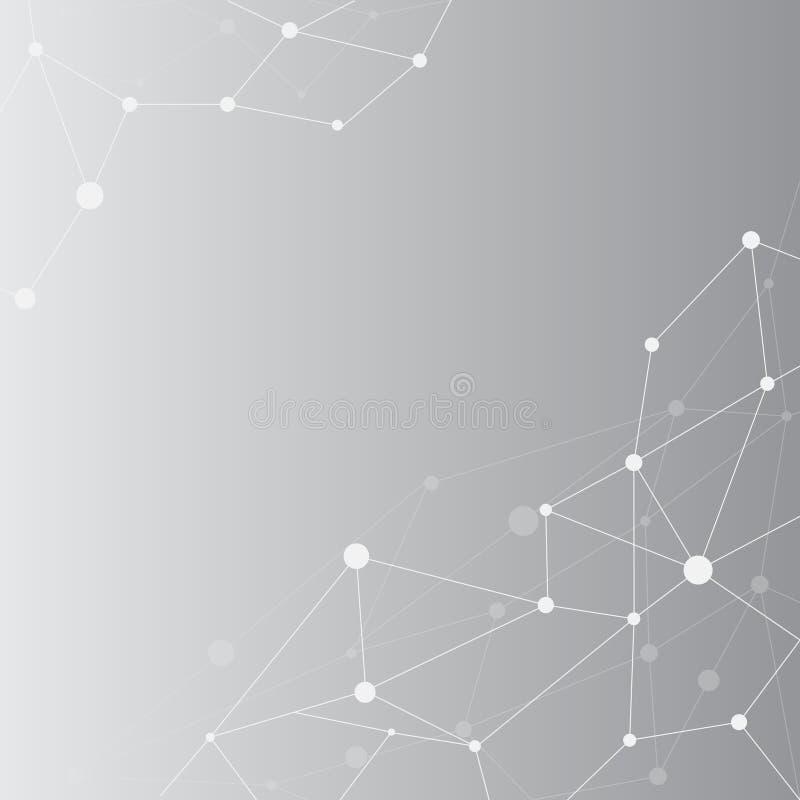 现代技术摘要BG线点连接在全球化的技术 皇族释放例证