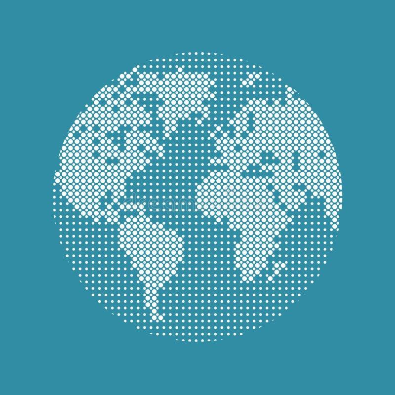 现代技术,网络,世界地图 数字互联网,网,虚拟现实 向量例证