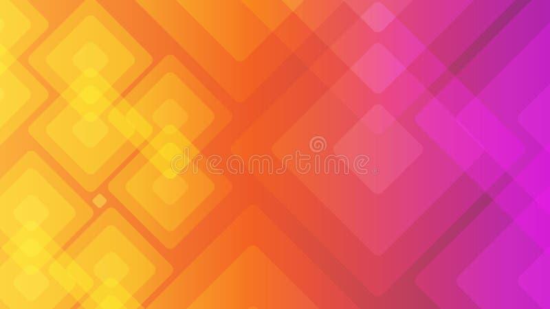 现代抽象五颜六色的几何背景 与时髦梯度构成的形状您的设计的 库存例证