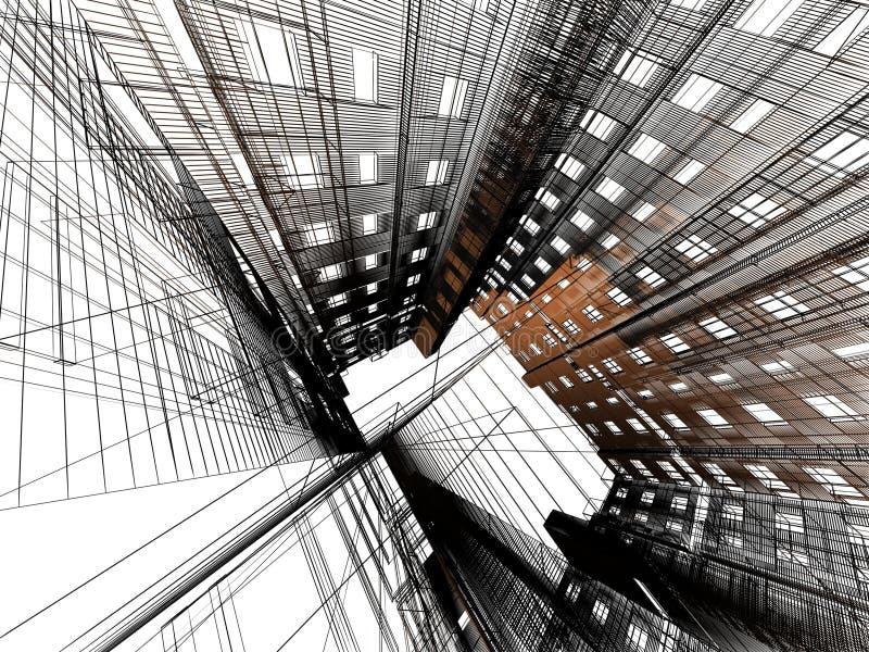 现代抽象的结构 皇族释放例证